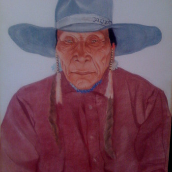 striking native american portrait - Native American