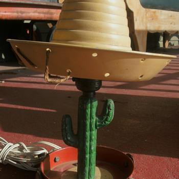 Mexican Sombrero,  Saguaro Cactus Lamp - Lamps