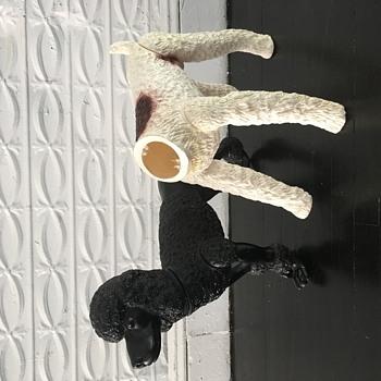 Life Size Plastic Dogs, Italian Made