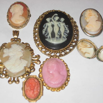 Cameo pins 3 & 4 - Fine Jewelry