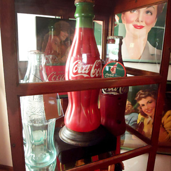 1920's Bottle Lamp and 1930's Bottle Radio - Coca-Cola