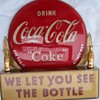 1950's Coca Cola point of sale sign