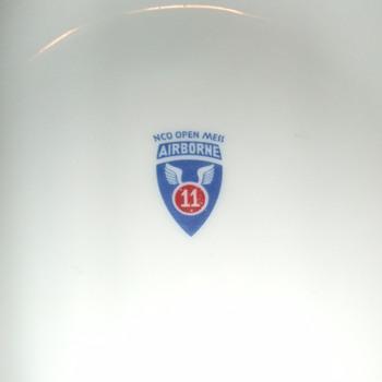 11th Airborne Division ashtray - Tobacciana