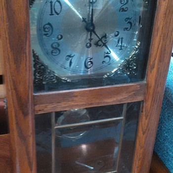 Cool 60s looking 8 day Westminster chime ansonia wall clock - Clocks