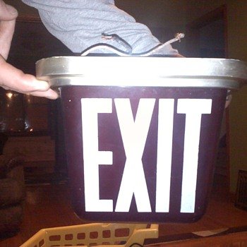 Vintage Exit sign  - Signs