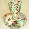 Welz Spatter Glass Vase on Three Ribbed Ball Feet