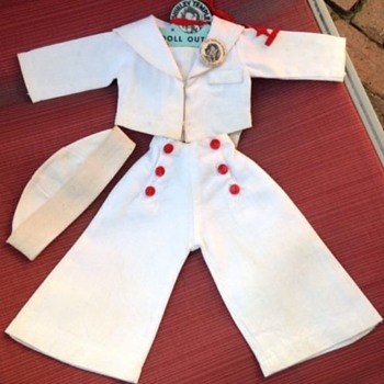 Shirley Temple Captain January White Sailor outfit - Dolls