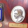 My dad's antique auto emblem collection