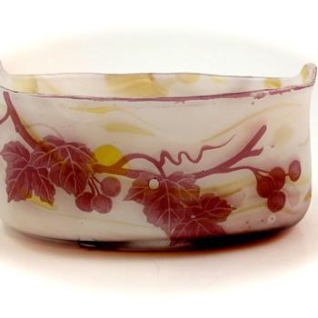 Kralik Cameo Long Bowl - A Good Trade! - Art Glass