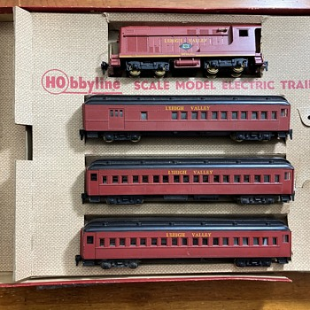 "HObbyline 1955 Ho set #411 The Lehigh Valley ""Wall Street"" - Model Trains"
