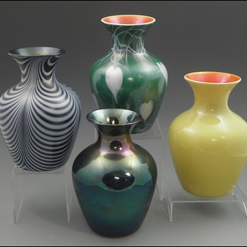Imperial Lead Lustre Vases in Shape 618 - Imperial Glass Company, Bellaire, Ohio, 1925-26 - Art Glass