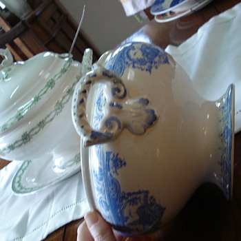 Two transferware tureens: an interesting example of research about unmarked old pottery - China and Dinnerware