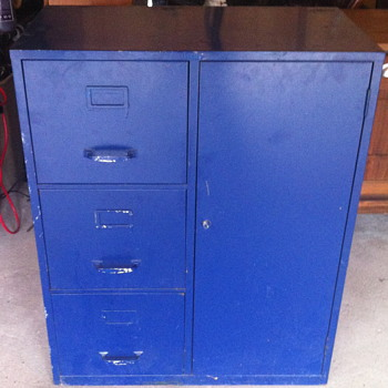 Cole-Steel cabinet.