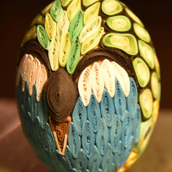 What is this? Quillwork Egg? - Folk Art