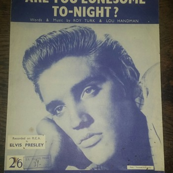 Are You Lonesome To-Night? - Song  - Music Memorabilia