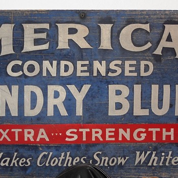 American Condensed laundry bluing sign - Signs