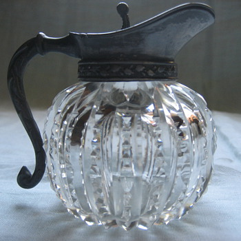 brilliant cut syrup pitcher - Glassware