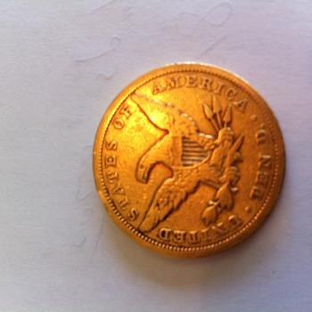 1850 Type 1 (No Motto) double eagle Philadelphia Mint Gold Coin