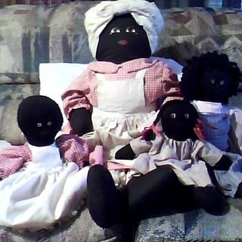 black americana old cloth dolls - Dolls