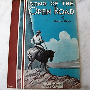 Song of the Open Road sheet music 1935 - Music Memorabilia