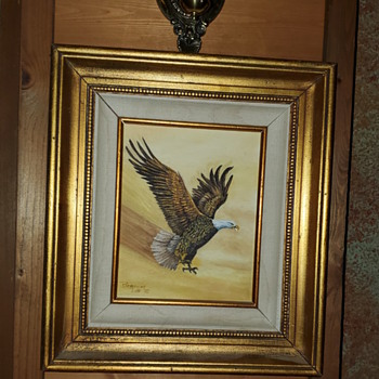 Eagle in flight by Berniece Iott - Fine Art