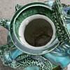Antique dragon face pottery va,se