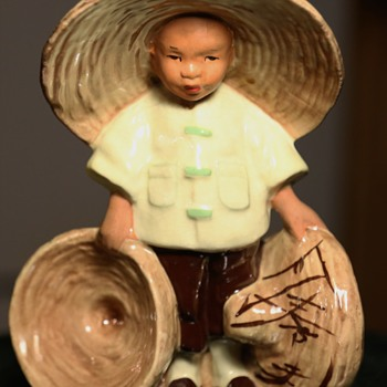 Chinese Boy Planter - McCarty Bros California Pottery 1948 - Figurines