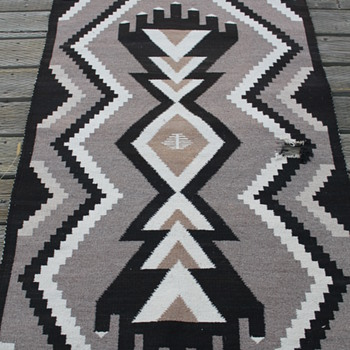 Two Gray Hills? wool Navajo? rug