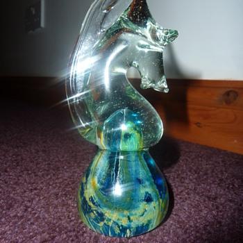 mdina knight chess piece paperweight - Art Glass