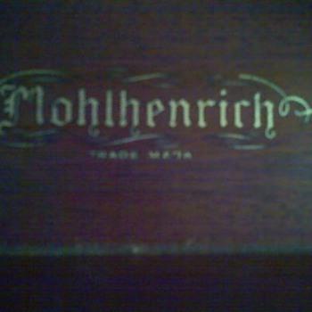 Mohlhenrich  Walnut Armoir- Gold Leaf Emblem