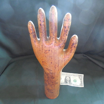 Copper Tube Hand Display Art . . . A Rubber Glove Mold ! ! ! :^)   - Advertising