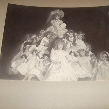 Photograph of large collection of dolls  - Photographs