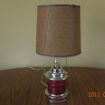 red base lamp 1970's?? - Lamps
