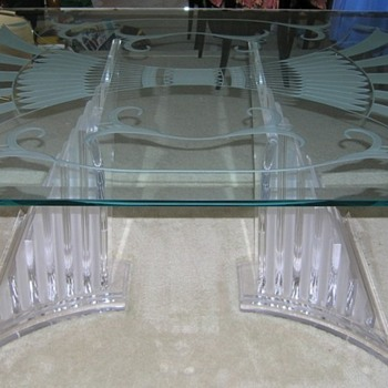 ART DECO (NOUVEAU?) STYLE GLASS DINING TABLE - Art Deco
