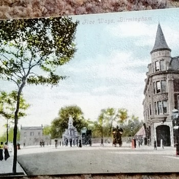 Old birmingham, Edgbaston, 5 ways, April 1904. - Postcards