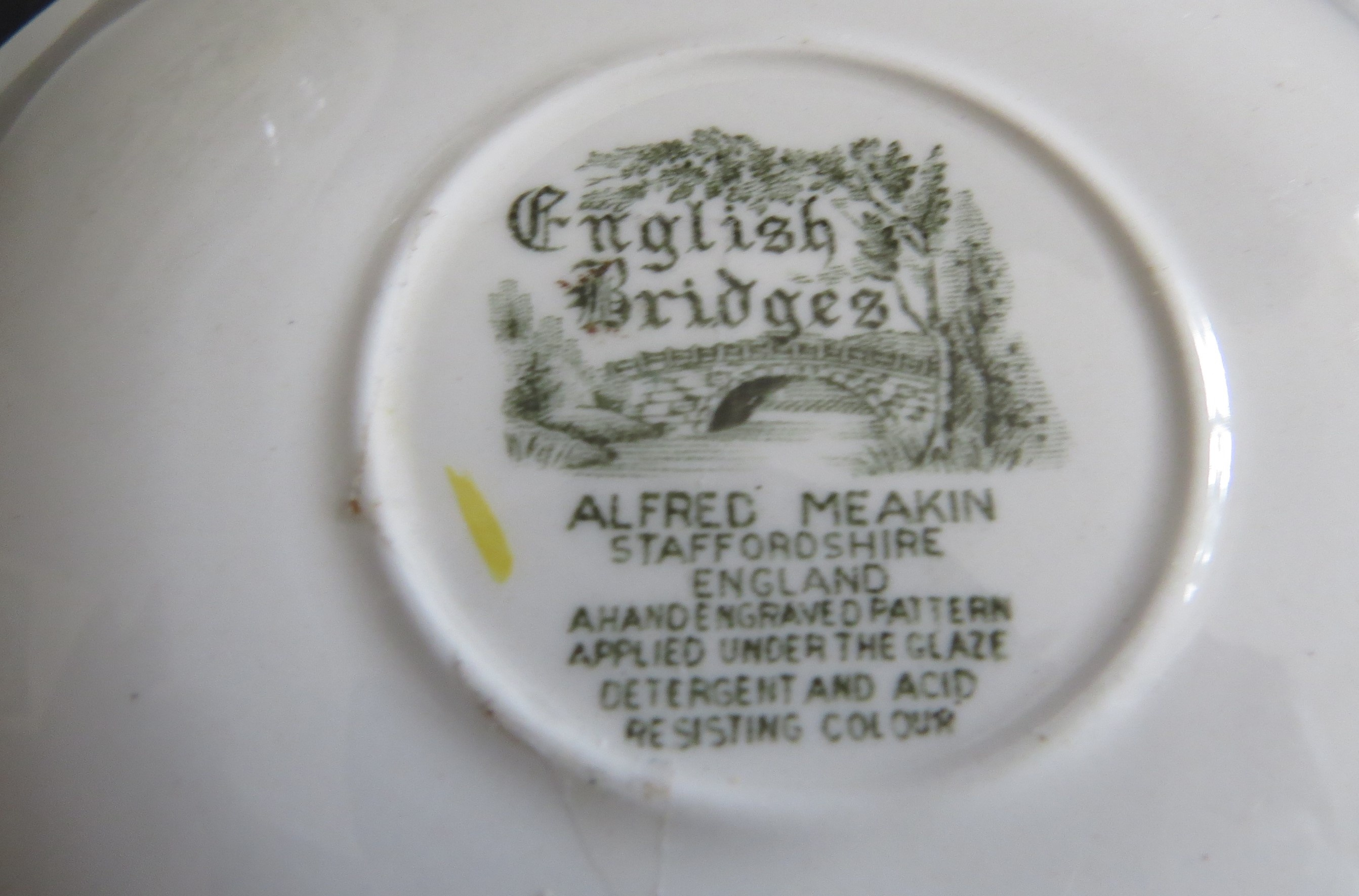 Alfred Meakin Cup and Saucer - English Bridges Pattern