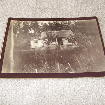 Cabinet card of Slave/ Sharecropper cabin