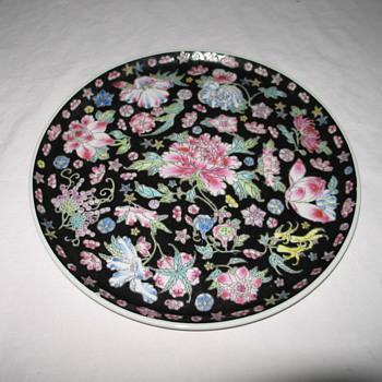 Black round Ceramic Piece - Pottery
