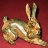Pierre Chenet Bronze Crouching Hare Sculpture
