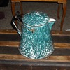 Large Enamelware/Graniteware Chrysolite Coffee Pot