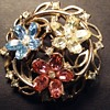 Vintage Trifari Philippe flower brooch or pendant