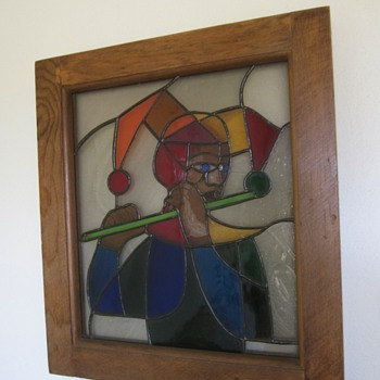 Art Deco Jester by my Great Uncle Frank - Art Glass