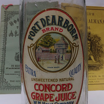 Circa 1900 Paper Label Juice - Bottles
