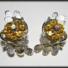 Vintage Clip-On Costume Jewelry Earrings - Umarked