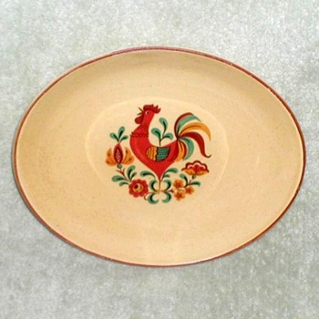 TST Reveille Rooster Pattern Platter & Dish - China and Dinnerware