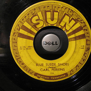 Sun Labels-- Two from the 50s and One Newer of Elvis First recording for his Mother - Records