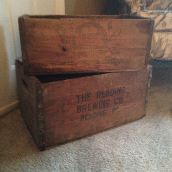 Reading Brewing Company Beer Crates - Breweriana
