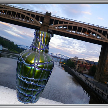 KRALIK IRIDESCENT VASE - Art Glass