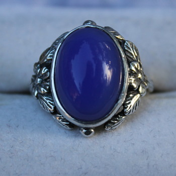 Not identified as Bernard Instone blue stone ring