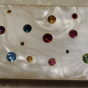 Fab little jeweled box. - Tobacciana